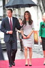 Prince William, Duke of Cambridge and Catherine, Duchess of Cambridge arriving at the premiere of African Cats at the BFI in London, England