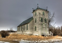 United Church (Ken Yuel) Tags: canada saskatchewan pews hoosier unitedchurch abandonedchurches canadianprairies digitalagent kenyuel woodenchurchesoftheprairies oldprairiebuildings