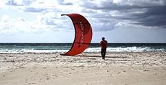 Kite (Llolker) Tags: kite storm beach surf playa tormenta kitesurf tarifa