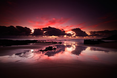 O (< Nick Friend >) Tags: seascape reflection sunrise australia nsw portmacquarie