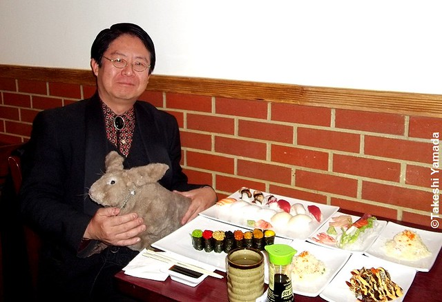 Seara (sea rabbit) and Dr. Takeshi Yamada at Sake Japanese Restaurant in Brooklyn, New York on December 16, 2011.  20111216 022