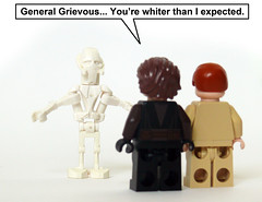 Grievous the White (Oky - Space Ranger) Tags: white star funny lego general gray revenge darth gandalf jedi obi anakin wars vader wan clone sith skywalker kenobi grievous