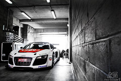 Audi R8 LMS (Alexis Goure) Tags: alexis france car sport race french stand tour box garage voiture racing mans german coche motor gt audi bugatti circuit allemagne lemans motorsport francais paddock r8 lms wagen allemande goure sixela alexisgoure gttour