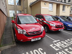 red car 4x4 doctor cumbria choc hondacrv