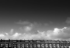 Terraced. (Ian McWilliams.) Tags: houses bw row northumberland tynemouth newcastleupontyne percypark canon550d percyparkroad