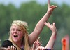 Ed Sheeran fans at BBC Radio 1's Hackney Weekend held at Hackney Marshes - Day 1 London, England