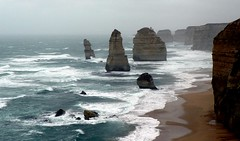 The Twelve Apostles... (The Pocket Rocket) Tags: rain australia victoria spray southernocean portcampbellnationalpark thetwelveapostles explore273