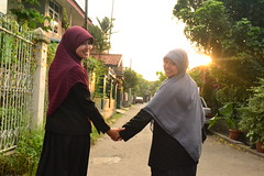 Walking Along (d'zoro) Tags: hijab flowersofislam