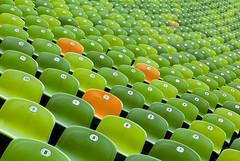 Orange Chairs among Green Chairs (yushimoto_02 [christian]) Tags: orange green art horizontal architecture altered canon germany munich mnchen geotagged photography arquitectura chair europe pattern order chairs stadium patterns seat nopeople number indoors olympia architektur reality munchen olympic grn fullframe stadion olympicstadium abundance gruen sitzreihe stuhl sthle conformity architectura inarow individuality olympiastadion largegroupofobjects alteredreality sitzreihen flickrjobdiff flickrjobprem standingoutfromthecrowd fullyfilled flickrstruereflection1