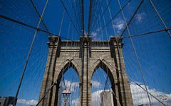 Brooklyn Bridge (Raph/D) Tags: new york city nyc newyorkcity bridge newyork colors stone architecture brooklyn eos manhattan famous landmark brooklynbridge 7d catchy