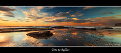 Time to Reflect - Newport Beach Rockshelf (John_Armytage) Tags: ocean sea seascape storm reflection beach clouds movement sand flickr wave australia newportbeach panoramic nsw canon5d northernbeaches rockshelf leefilters canon1635l johnarmytage wwwjohnarmytagephotographycom