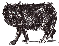 black wolf sketch - WM (katieillustration) Tags: black art illustration fairytale ink sk