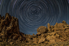 Alabama Hills Star Trail (phil_mcgrew) Tags: nightphotography sca stacking lonepine startrails easternsierras longexposures alabamahills movieroad