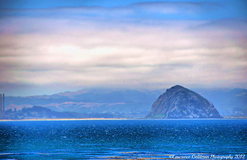 View of Morro Bay California from Cayucos California