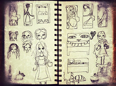 alice in wonderland sketchbook doodles (heathermariecarr) Tags: illustration pen sketchbook doodles sketches 2012 aliceinwonderland lewiscarroll heathercarr xe3ep heatherunderground