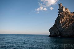 Swallow's Nest /   (VK | Photography) Tags: sea sky mountain beautiful architecture lens landscape golden nikon rocks 10 wide sigma hour mm 20 d80