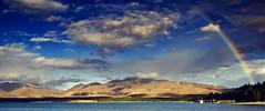 Multi-coloured Tekapo (Tim Bow Photography) Tags: newzealand color colour water clouds landscape rainbow nz laketekapo british welsh svenska landscapephotography mckenziecountry mckenziebasin timboss81 timbowphotography