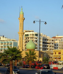 IMG_5888 (SyrianSindibad) Tags: sea lebanon coast south mosque front saida liban sidon