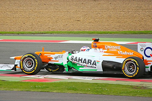 Paul di Resta in his Force India at Silverstone