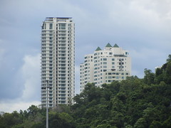 The Peak Vista & The Peak (thienzieyung) Tags: new trees windows roof sky terrain green clouds buildings view pyramid cloudy places hills coastal jungle malaysia balconies kotakinabalu tall geography awana development properties sabah condominiums ridges towering cladding dominating revealed toppedout thienzieyung peakvista premiumtower