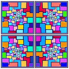 Stained Glass Painting (Falcon Writing) Tags: abstract art painting happy pattern bright squares paintshoppro enlightenment churchwindow calaidescope cliffhoward