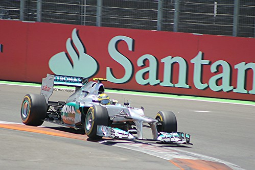 Nico Rosberg in his Mercedes F1 car during the 2012 European Grand Prix in Valencia