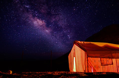 Milkyway and my camp in ladakh (The N!kon Guy) Tags: night stars galaxy astrophotography leh ladakh tsomoriri milkyway longexposer earthandspace serchu nikond5100 competition:astrophoto=2013