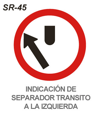 Resultado de imagen de separador de transito a la izquierda