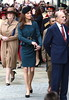 Catherine, Duchess of Cambridge, aka Kate Middleton greets members of the public during a visit to Leicester for the Queen's Diamond Jubilee Leicester, England