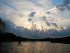 sunset kayaking (Park Doc) Tags: camera blue sunset sky urban nature water beauty clouds river virginia dc washington md nikon kayak dramatic vivid maryland va kayaking coolpix potomac pointandshoot drama paddling waterproof aw100