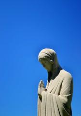 Peace Through Faith (Liz Nemmers) Tags: blue art church minnesota statue catholic peace faith prayer pray minneapolis exhibit mpls winner twincities picturingpeace basilicaofsaintmary