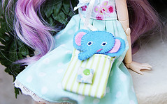 The elephant cutie :3 (Nouchka ) Tags: elephant doll plush wig groove pullip cowgirl martie parme junplanning celsiy