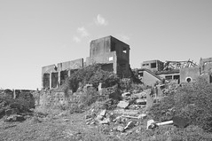 Dated. (Crusade.) Tags: travel urban bw japan canon island town blackwhite ghost wide ruin shift mount terrible rubbish horror 17 dslr tilt ultra nagasaki a12 tse hashima dated gxr 5d2