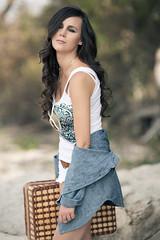 Yana (jasongrover.com) Tags: ocean travel portrait lake black beach water beauty fashion island model dress case edge yana