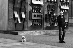 a walk with Pomodoro's background (enki22) Tags: street people white black torino candid pomodoro enki22
