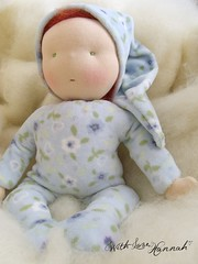 blue cuddle waldorf baby doll (With Love, Hannah) Tags: waldorfdoll steinerdoll naturaltoys naturaldoll cuddledoll cuddlebaby
