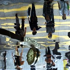 time warp (gregjack!) Tags: china street people reflection clock hongkong time