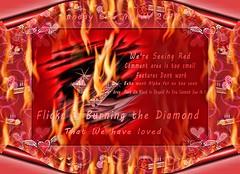 Burning The Diamond (Rosemarie.s.w) Tags: red black yahoo flickr shit artonflickr pandaonflickr flickrblackday flickrredday