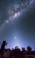 Imaging Under Zodiacal Light (TheAstroShake) Tags: light windmill way venus telescope galaxy milky core milkyway zodiacal