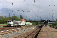 """103 222 (""""Railadventure"""") fuhr am 15.05.2016 mit 103 304 (""""VR"""") und 103 303 (""""VR"""") durch Magdeburg-Rothensee. (Jan-Felix Tillmann) Tags: finnland siemens eisenbahn magdeburg 103 vr 193 sachsenanhalt berfhrung vectron rothensee 103222 103303 103304 railadventure"""