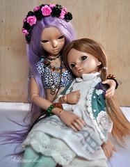They look so cute together!!!! (nekomuchuu63) Tags: doll box 14 opening bjd 16 fairyland luka lishe minifee littlefee