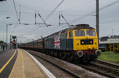 47580 - 1Z62 - Peterborough - 19.05.2016(1) (Tom Watson 70013) Tags: 47580 county of essex class47 cathedrals express 4472 60103 flying scotsman diesel duff train railway station 1z62 peterborough
