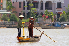 Fishing in Hoi An (Helen M Evans) Tags: river fishing fishermen vietnam hoian