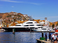 photo - BIG Boat, Cabo San Lucas (Jassy-50) Tags: mexico harbor boat photo dock yacht helicopter bajacalifornia cabosanlucas loscabos