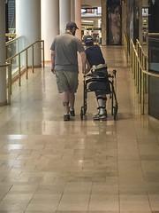 Let's Go for a Walk (cobalt123) Tags: family arizona phoenix june john walking us drew walker caring assistance iphone6plus