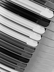 Playing piano on the shopping baskets Blackandwhite Stillife Simple Photography Abstract Simple Things Black & White Black And White Keyboard Simple Shopping  Shop Around The Corner (Kaktuswelcome) Tags: blackandwhite abstract blackwhite keyboard stillife simple simplethings shoparoundthecorner simplephotography shopping