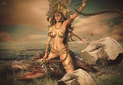Miranda~Yeehaaaaawwwwwwww!! (Skip Staheli (Clientlist closed)) Tags: avatar alligator sl digitalpainting fantasy secondlife crocodile dreamy virtualworld skipstaheli mirandabrinner