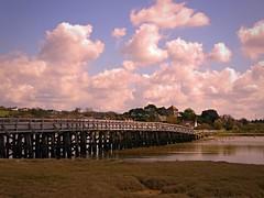 The Old Shoreham Tollbridge (ynotwooly) Tags: old bridge sky cloud river tide panasonic g5 woodenbridge shoreham oldshoreham
