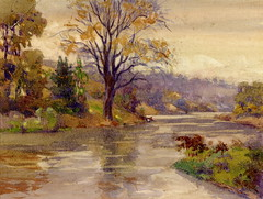 Where Laura Secord, on the 23rd of June 1813, Crossed the Twelve Mile Creek (St. Catharines, Ontario) (Toronto Public Library Special Collections) Tags: lauraingersollsecord warof1812 stcatharines loyalists twelvemilecreek canadianheroine watercolour trees river