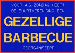 EDSCARDS # 54 (streamer020nl) Tags: ed design postcard barbecue limitededition 1990s gezellig postkarte buurtvereniging edscards limitedeedition